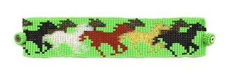 Horse Bracelet - #211 Lime, Magnetic Clasp!