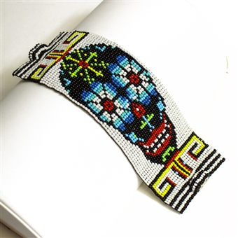 Day of the Dead Bracelet #9, Double Magnetic Clasp!