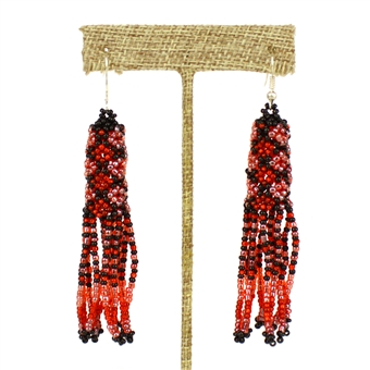 Zulu Earrings - #110 Red Coral