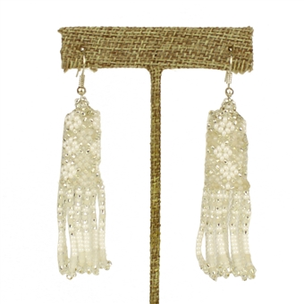 Zulu Earrings - #114 White