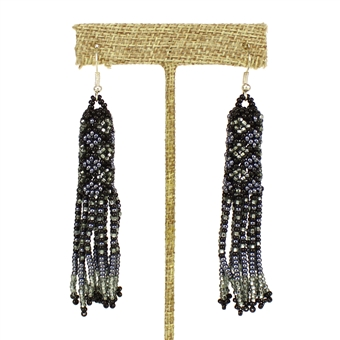 Zulu Earrings - #205 Hematite