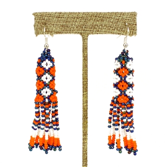 Zulu Earrings - #519 Orange and Blue