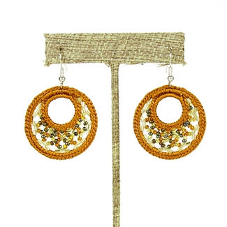 Woven Earrings, Small - #103 Earth