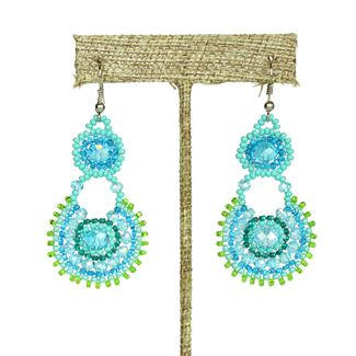Crystal Canasta Earrings - #231 Turquoise
