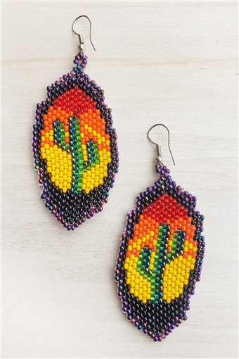 Saguaro Sunset Earring - ( 2.7L x 1.2W )