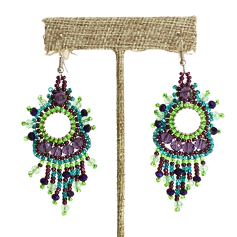 Sol Earring - #105 Purple and Green