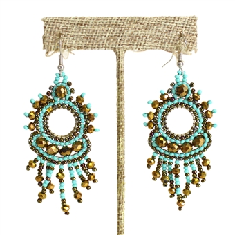 Sol Earring - #131 Turquoise and Bronze