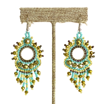 Sol Earring - #132 Turquoise and Gold