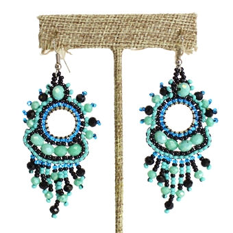 Sol Earring - #133 Turquoise and Black