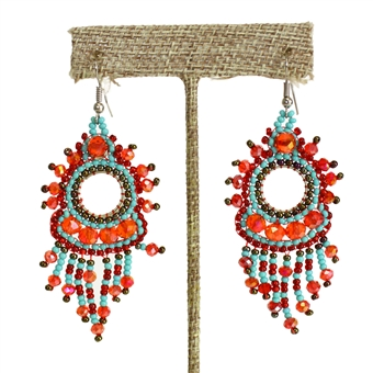 Sol Earring - #138 Turquoise and Red