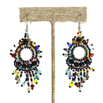 Sol Earring - #151 Black and Multi