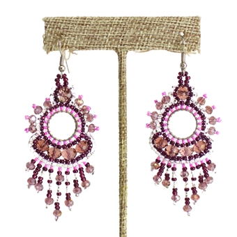 Sol Earring - #294 Pink and Purple