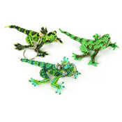 Fancy Lizard Keychain - #001 Assorted