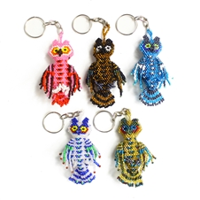 Fancy Owl Keychain