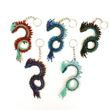 "Dragon Keychain - Assorted Colors, 4.5-5"" head to tail"