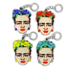 "Frida Keychain - (2 1/8"" wide x 2 3/4"" tall x 7/8"" thick)"