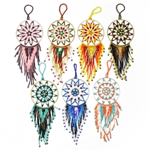 "Dream Catcher Ornament, 7.5"" Catcher to Fringe"
