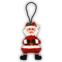 "Super Santa Ornament - 3.5"" Tall"