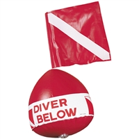 Dive Flag with Inflatable Float
