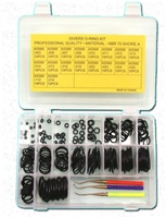 180 Piece Buna / NBR O-Ring Kit w/ Brass Picks