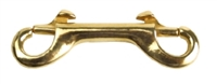 "Double End Bolt Snap, 3.5"", Brass"