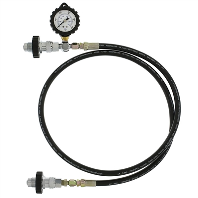 Cylinder Transfill Hose with Gauge - DIN