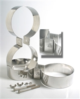 TDL 8.00 Inch Stainless Steel Doubles Bands