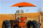 "Snowco Femco TU-56 Deluxe 54"" Tractor Umbrella Complete - Orange Canvas."