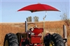 "Snowco Femco TU-56 Deluxe 54"" Tractor Umbrella Complete - Red Canvas."