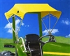 "Snowco 48"" Sunshade Replacement Cover ONLY - Yellow Canvas (Buggy Top Style)."