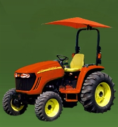 "Snowco Femco RU-50 ROPS 54"" Tractor Umbrella with Mounting Bracket, Cover & Frame - Orange."
