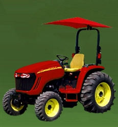 "Snowco Femco RU-50 ROPS 54"" Tractor Umbrella with Mounting Bracket, Cover & Frame - Red."