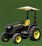 "Snowco Femco RU-50 ROPS 54"" Tractor Umbrella with Mounting Bracket, Cover & Frame - White."