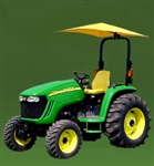 "Snowco Femco RU-50 54"" Tractor Umbrella with Mounting Bracket, Cover & Frame - John Deere Yellow."