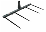 Worksaver DBH-449 3 Point Bale Spear for Tractors 3 Pt Hitch/Two Round Hay Bales 832610