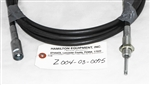 "Tanco 3.50M Morse Cable 210498/03/50, part # Z004-03-0075. This cable measures 11' 6"" end-to-end and the cable casing measures 11' 5"" end-to-end."