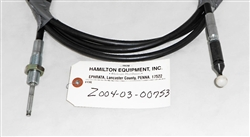 "Tanco 3.50 Mts. Morse Cable Black 2134, part # Z004-03-00753. This cable measures 11' 5"" end-to-end and the cable casing measures 11' 4"" end-to-end.3-00753."