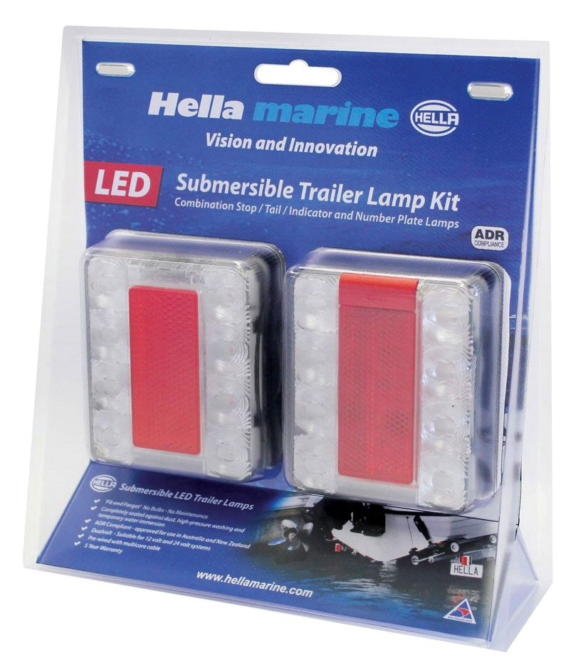 Hella Led Combination Lamp Trailer Kit 12v Autoelec