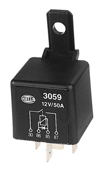 hella 4 pin normally open relay with diode 12v 50a autoelec warehouse. Black Bedroom Furniture Sets. Home Design Ideas