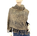 3 Ply Cashmere Pashmina Cheetah Animal Print Wrap
