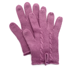 Knit Cashmere Gloves Midnight Lavender