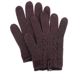 Knit Cashmere Gloves Dark Chocolate