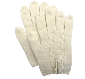 Knit Cashmere Gloves Natural