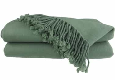 Cashmere Throw Blanket Sage Green