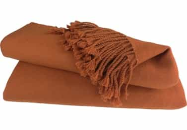 Cashmere Throw Blanket Burnt Orange