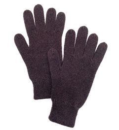 Cashmere Gloves Dark Chocolate