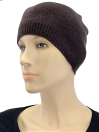 Cashmere Hat Dark Chocolate