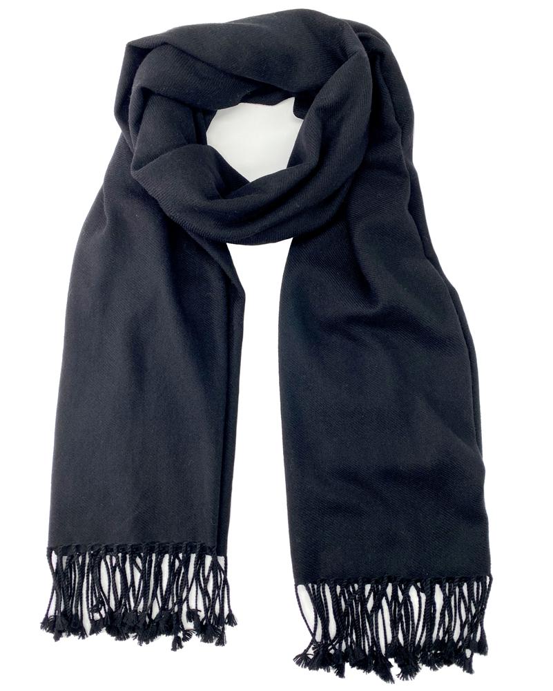 aa605af32 Pure Cashmere Pashmina Shawl Black 3Ply