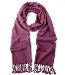 Boysenberry  Pashmina Shawl 2 Ply