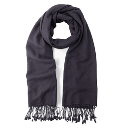 Charcoal  Pashmina Shawl 2 Ply